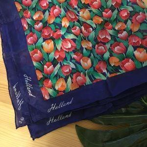 🌷Silk Tulip Scarf from Holland 🌷